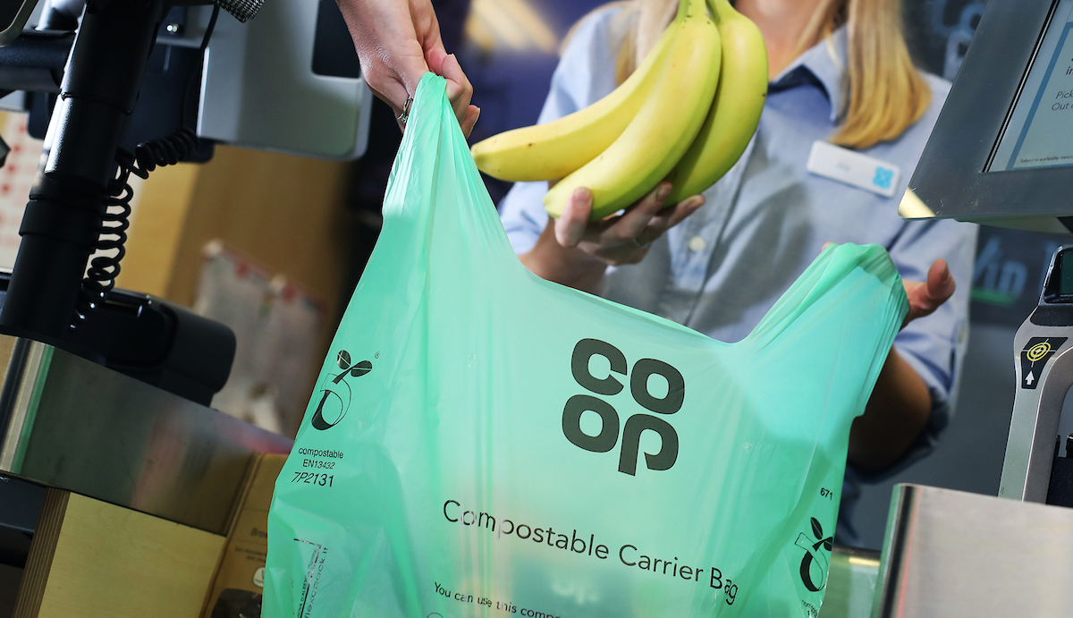 Co-op scraps bags for life and moves to compostable carriers
