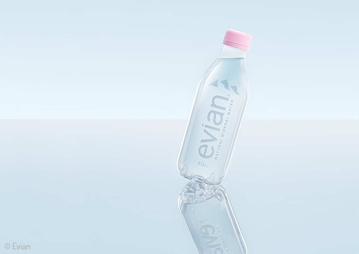 Evian's new recycled bottle