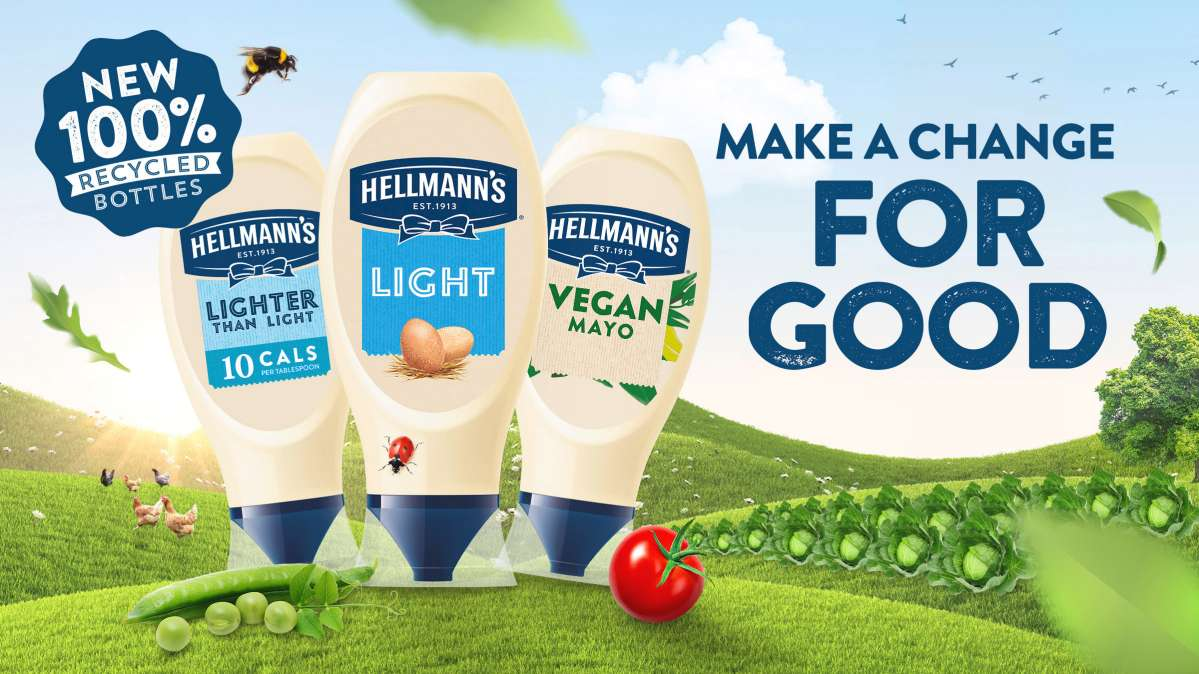 Hellmann's switch to 100% recycled plastic bottles