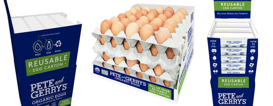 Pete & Gerry's Organic Eggs' new resuable cartons